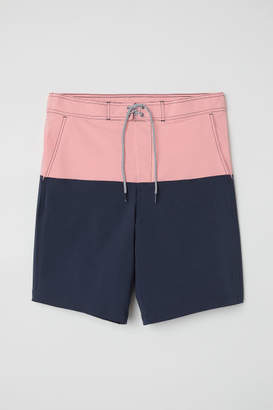 H&M Knee-length Swim Shorts - Pink