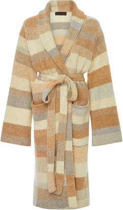 The Elder Statesman Stripe Cashmere Robe