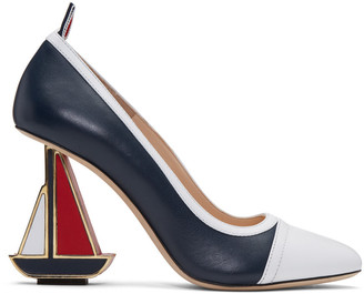 Thom Browne Tricolor Funmix Sailboat Icon Heels $1,050 thestylecure.com