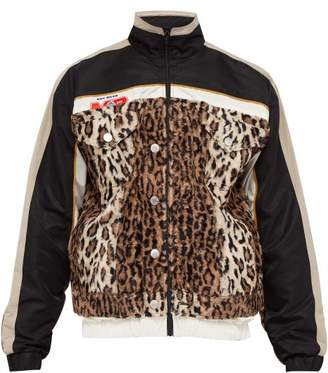 Martine Rose Leopard Print Contrast Panel Jacket - Mens - Multi