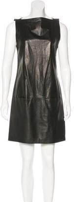 Vince Leather Shift Dress