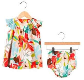 Carrera Pili Girls' Floral Pleated Dress
