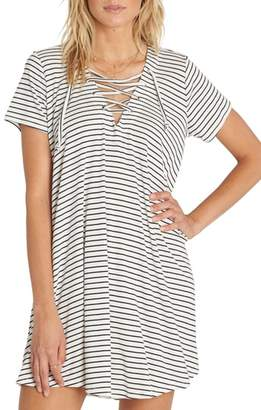 Billabong Long Ago Lace-Up T-Shirt Dress