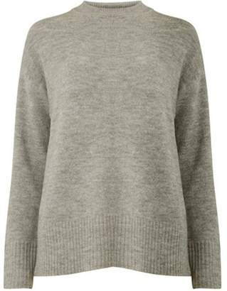 Dorothy Perkins Womens Grey Crew Neck Jumper