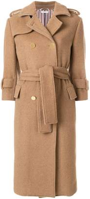 Thom Browne Camel Hair Double-breasted Trench Coat