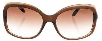 Bvlgari Embellished Gradient Sunglasses
