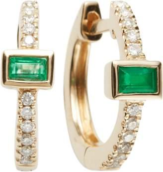 Jacquie Aiche Emerald Baguette Mini Hoop