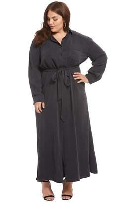 Twill Shirtdress - Asphalt, Plus Size