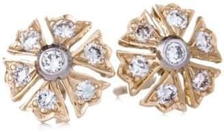 Couture Sethi Flower Diamond Stud Earrings