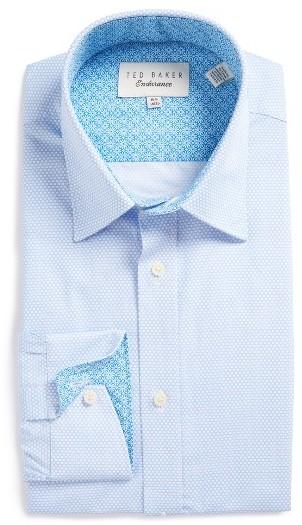 Men's Ted Baker London Carver Trim Fit Geometric Dress Shirt