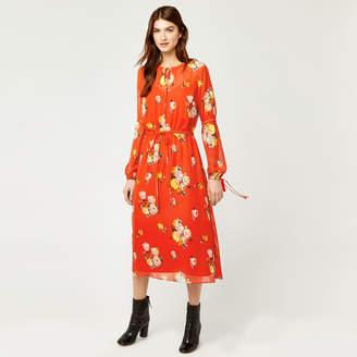 Warehouse Victoria Floral Chiffon Dress