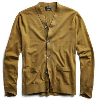 Todd Snyder Cotton Cardigan in Olive