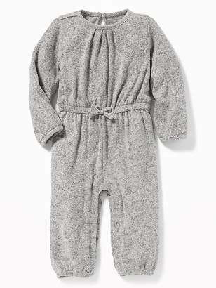 Old Navy Waist-Defined Plush-Knit Long Romper for Baby