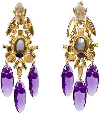 One Kings Lane Vintage Vrba Gold Purple Earrings