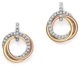 KC Designs 14K Gold Diamond Triple Circle Earrings