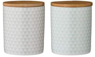 BLOOMINGVILLE Olivia Stoneware Canister - Set of 2
