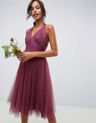 Asos Design DESIGN soft tulle midi dress