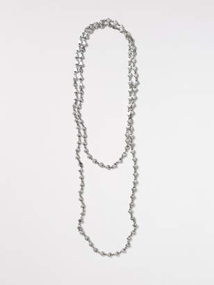 White Stuff Long Heart Versatile Necklace