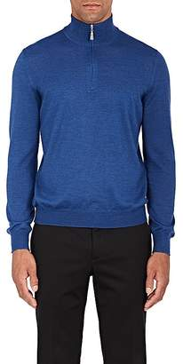 Barneys New York MEN'S WOOL QUARTER-ZIP SWEATER