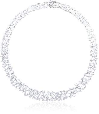 Suzanne Kalan baguette diamond necklace