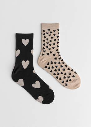 Set of Heart Socks