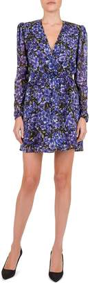 The Kooples Hortensia Grimpant Floral Print Silk Dress