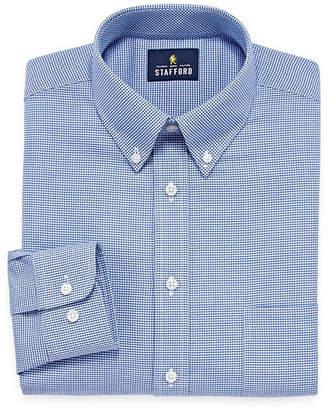 STAFFORD Stafford Wrinkle-Free Oxford Long Sleeve Woven Dress Shirt