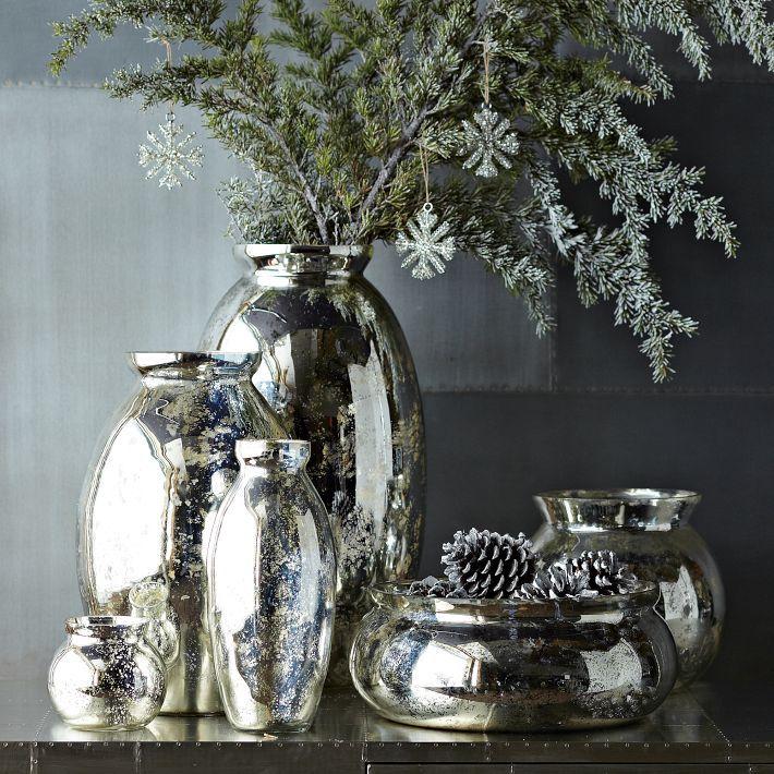 Mercury-Glass Vases