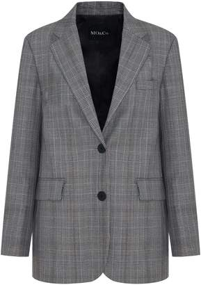 Mo&Co. Checkered Wool-Blend Jacket
