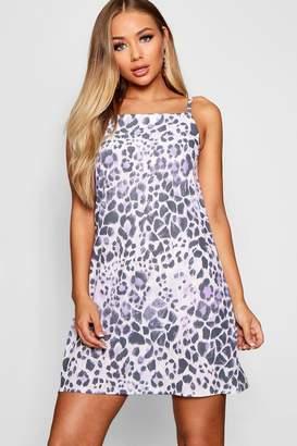 boohoo Leopard Print Cami Sun Dress