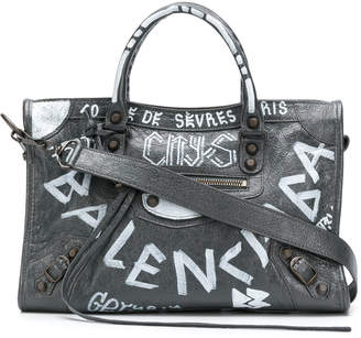 Balenciaga Classic City Small Handbag With Graffiti
