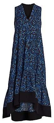 3.1 Phillip Lim Women's Floral Flounce Hem Midi Dress
