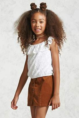 Forever 21 Girls Floral Lace Top (Kids)