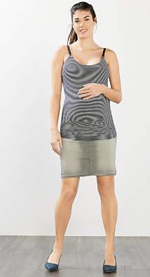Esprit soft stretch skirt w over-bump waistband