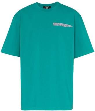 Calvin Klein logo embroidered cotton T-shirt