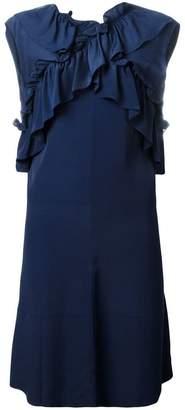 Marni sleeveless ruffled dress