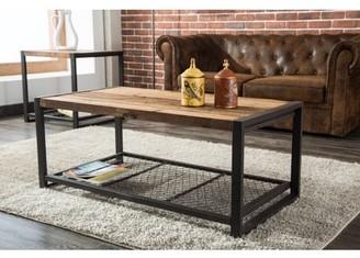 "Crawford & Burke Soho Reclaimed Wood and Metal 44"" Coffee Table"