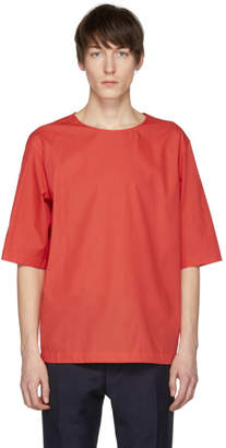 Lemaire Red Poplin T-Shirt