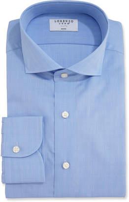Lorenzo Uomo Men's Glen Plaid Dress Shirt