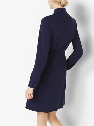 Michael Kors Tie-Waist Cotton-Poplin Shirtdress