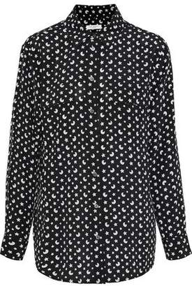 2e3338c2b9515f Equipment  signature  Print Silk Shirt - ShopStyle