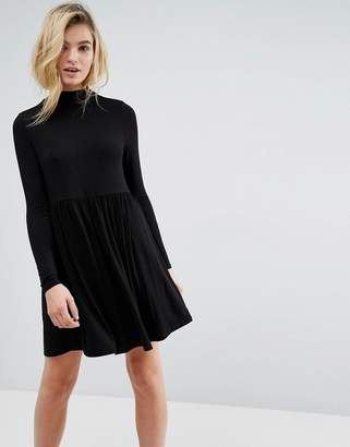 Asos Turtleneck Smock Dress