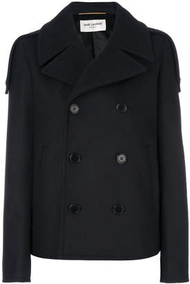 Saint Laurent cropped double breasted coat