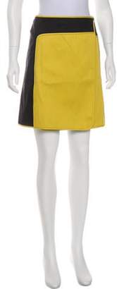 Reed Krakoff Mini Wrap Skirt Yellow Mini Wrap Skirt