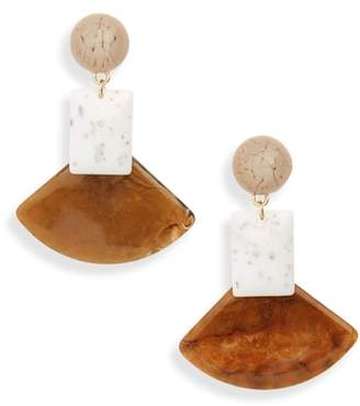 Leith Geometric Stone Drop Earrings