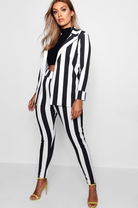 boohoo Plus Striped Suit Co-ord