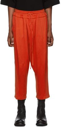Julius Orange Tucked Baggy Lounge Pants