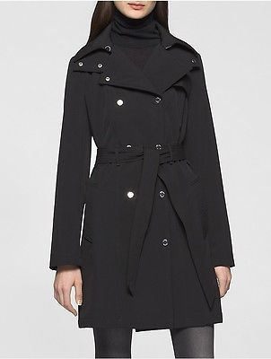 Calvin Klein Calvin Klein Womens Soft Shell Hooded Trench Coat Jacket