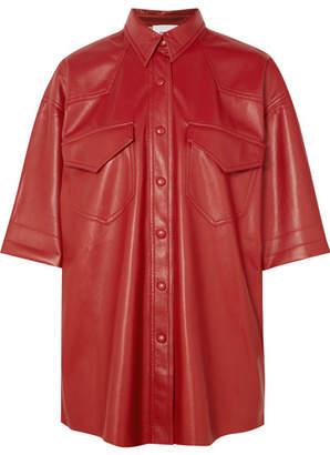 Nanushka - Seymour Vegan Faux Leather Shirt - Red