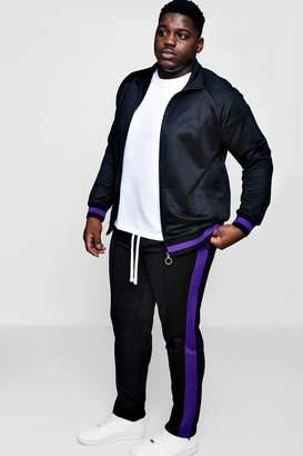 boohoo Big And Tall Skinny Fit Sports Tracksuit